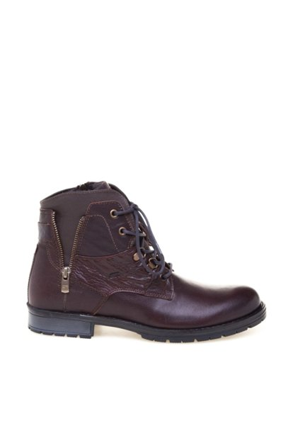 Genuine Leather Brown Men Boots 8K1UB10417