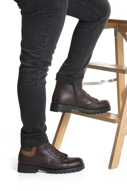 Brown Men's Boots DPRMGBLGB100