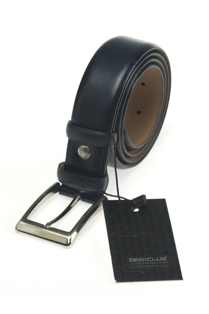 Black Genuine Leather Unisex Belt DC_KEMER_KLS1