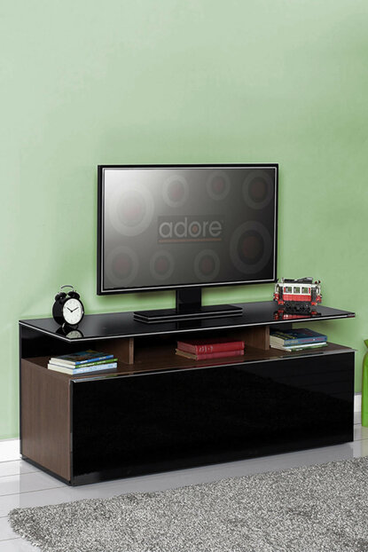 Vision TV Stand with Drawer Noce / Lacquer Black TVC-529-NS-1