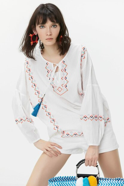 Women's White Tunic TS1190016033