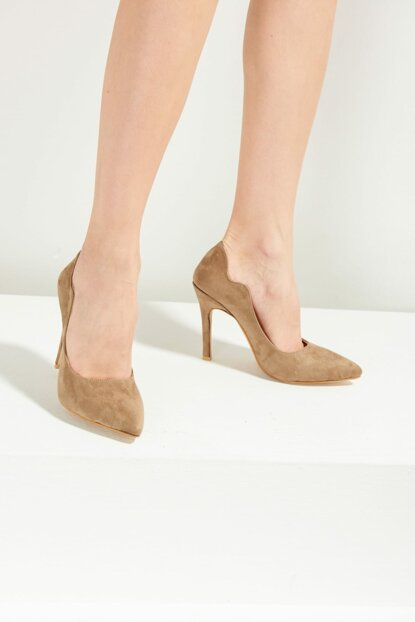 Camel Feather Women's Heels Shoes F0365174572