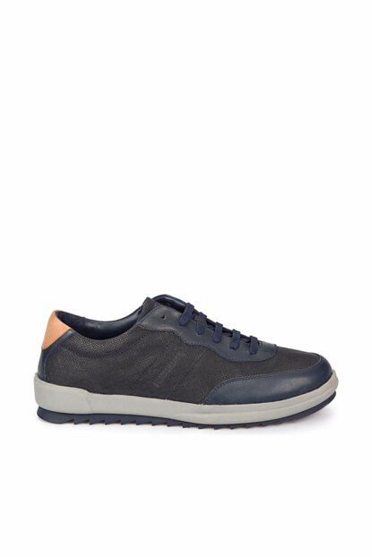 Genuine Leather Men Casual Shoes - DRAGON Navy Blue Men Leather 300-000000000100277936