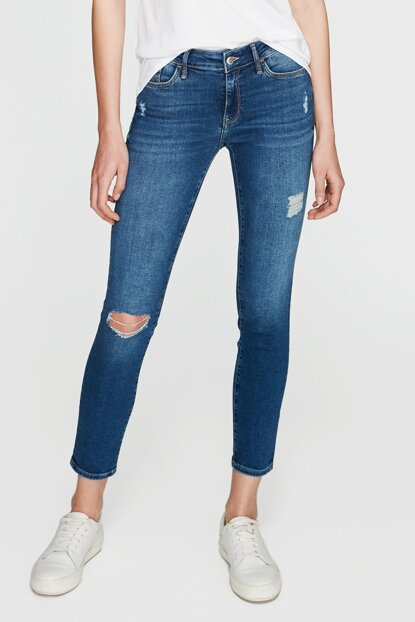 Women's Adriana Ankle Ripped Detail Jean 1072928543