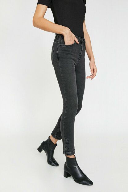 Women's Gray Carmen Jean Pants 0KAK47605MD