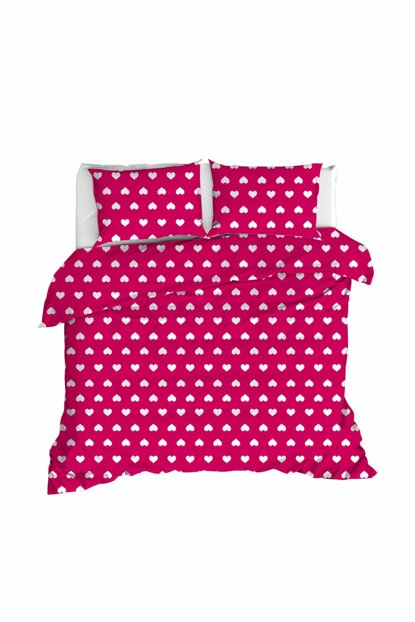 100% Natural Cotton Double Duvet Cover Set Chole Red Ep-020227