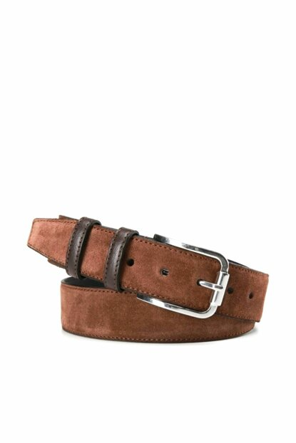 Genuine Leather Brown Men Belt 06KEH140920A480