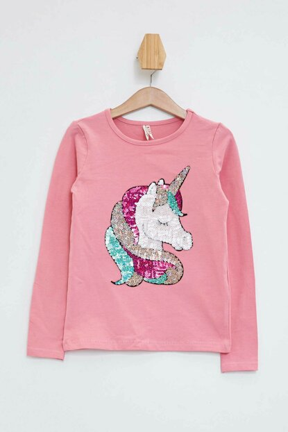 Unicorn Printed Long Sleeve T-shirt L1481A6.19AU.PN520