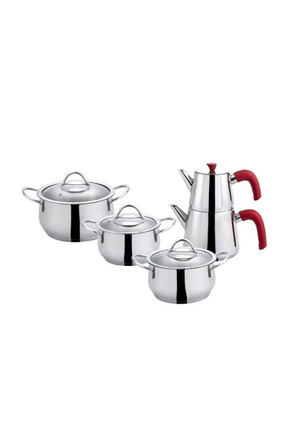 Selenite Steel Cookware Set - Teapot with Gift Red 600.15.01.0842