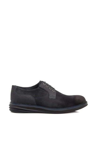 Genuine Leather Navy Blue Men Casual Shoes E18S1AY53906
