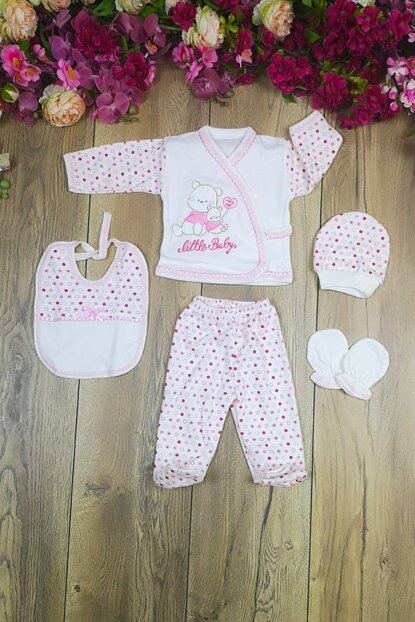 Little Baby Embroidered 5 Piece Layette Set mc2019019