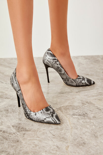 Platinum Snake Women's Heels Shoes 12425