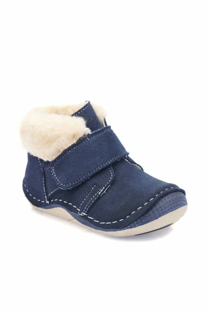 Navy Blue Boy Leather Shoes 000000000100331489