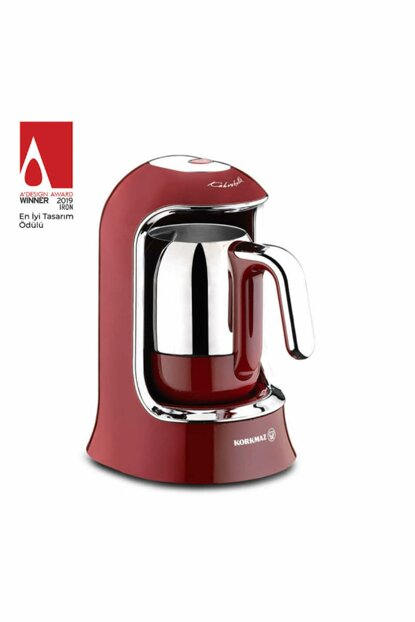 A860-03 Korkmaz Kahvekolik Red Automatic Coffee Machine