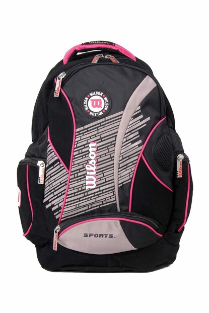 Pink Unisex School Bag wilson Backpack 50922pink