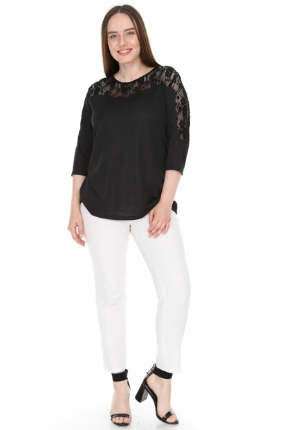 Women's Black Blouse 2296