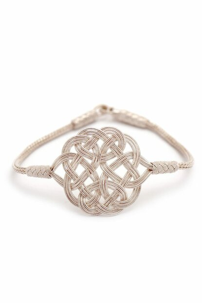 Love Knot Casting Hand Wrap Sterling Silver Bracelet 205 314468