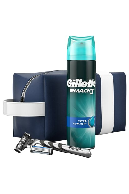 Mach 3 Machine + Replacement Blade + 200ml Gel + Travel Bag 7702018508945