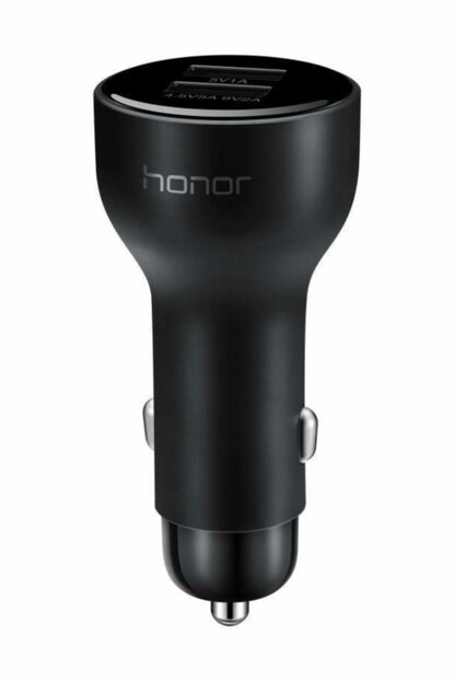 Honor Super Charge 27.5W Dual USB Fast Car Charger AP38C Black 0072632202688