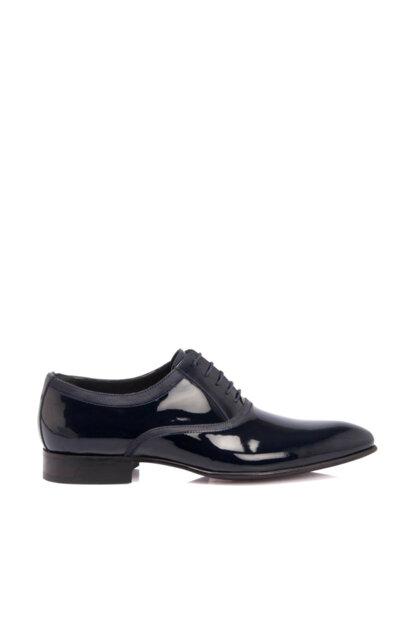 Genuine Leather Navy Blue-Patent Leather Men Classic Shoes E19I1AY54181