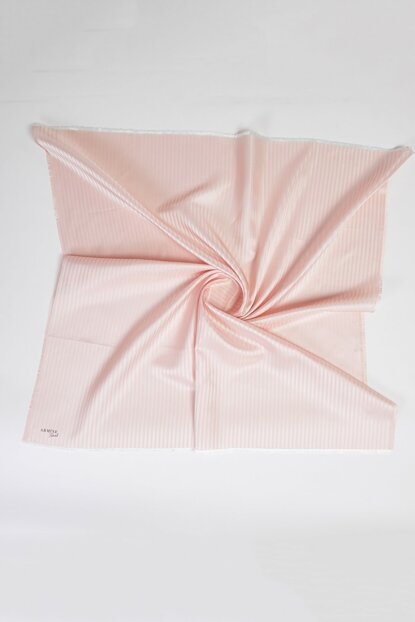 Women's Pink Shade Striped Square Scarf 456357