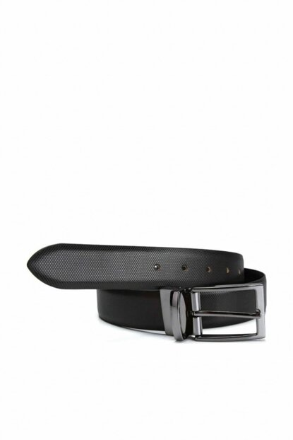 Genuine Leather Black Men Belt 06KEH142650A100