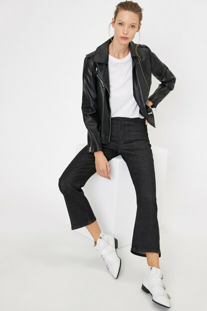 Women's Black Victoria Jean Pants 0KAK47220MD