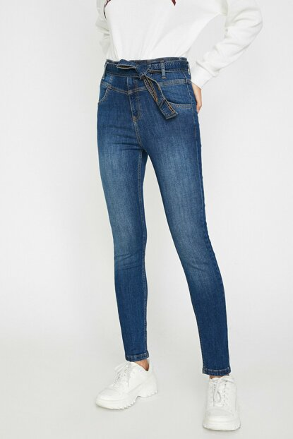 Women Blue Taylor Jean Pants 0KAK47218DD