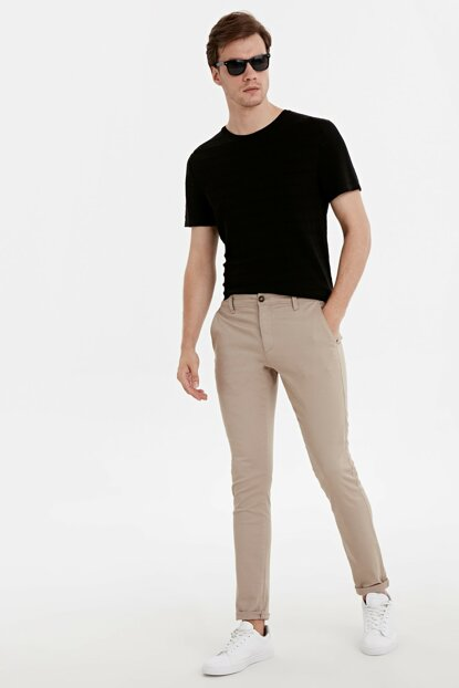 Men's Beige Psu Chino Pants 9SB808Z8