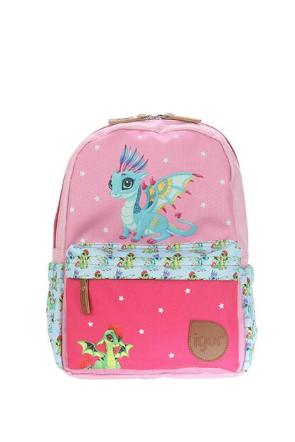 W80303-04 Funny Mix Dragon Children Backpack