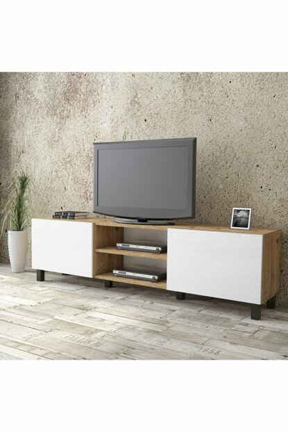 Aqua Tv Unit High Gloss 180cm 2 Cover White AU4-A2B-WW 1286349
