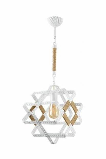 İnna Single White Wire Rope Chandelier 601 0157 27 099