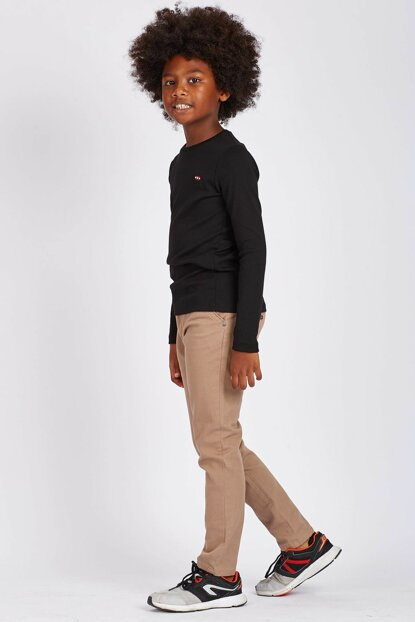 Beige Kids Trousers - 05020