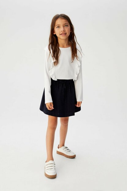 Off White Girls' Frilly T-Shirt 53963735