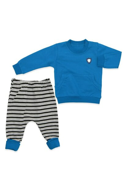 Armored Blue Sweater 2 Li Baby Set K2961 2961BM