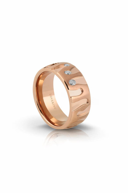 Women's Rose Steel Ring LVR536B