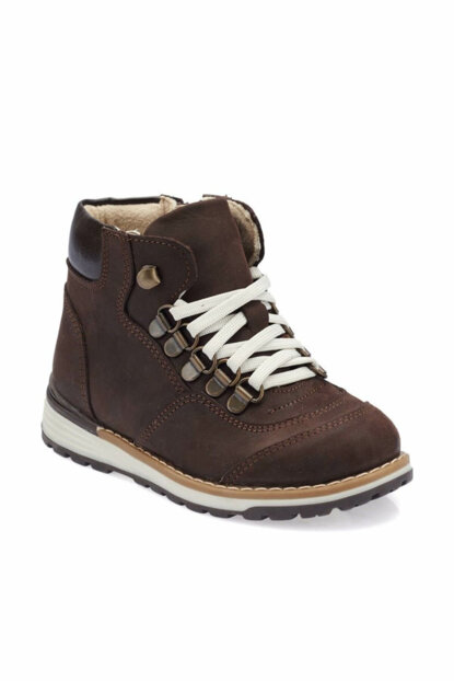 Brown Boys' Leather Boots 000000000100331829