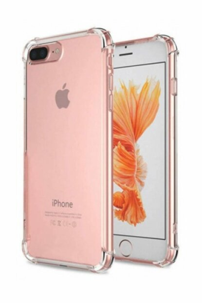 Rich Shop Apple iPhone 7 - 8 Plus Ultra Thin Transparent Airbag Silicone Case - And Screen Protector