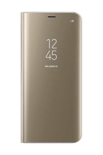Galaxy S8 Plus Clear Wiew Standing Cover Gold Case EF-ZG955CFEGWW