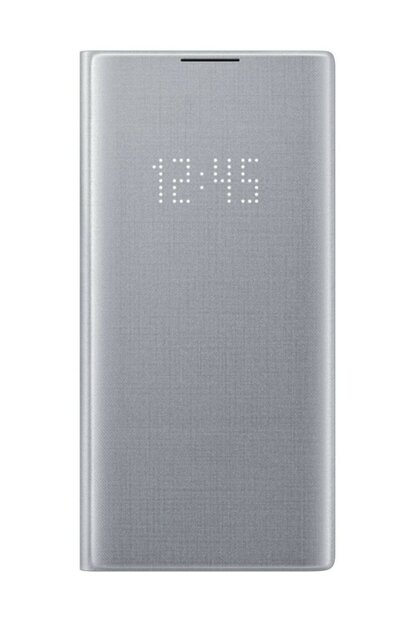 Galaxy Note 10 Plus Silver Gray Led View Case EF-NN975PSEGTR