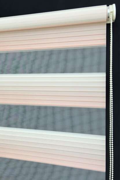 180X200 Zebra Curtain Aegean Pink Gradient Wide Pleated Roller Blinds 180X200-EY-BY-SAG-001EGE-11