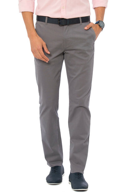 Men's Gray Trousers 7K2244Z8