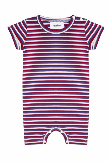 Organic Red - White - Blue Lycra Supreme Barbatoz T_MULTISTRIPE_BD_1090