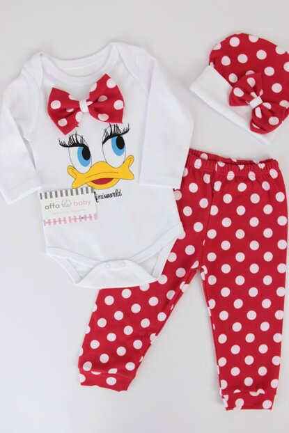 Red Duck Baby Girl 3-Piece Tee Suit K AF059