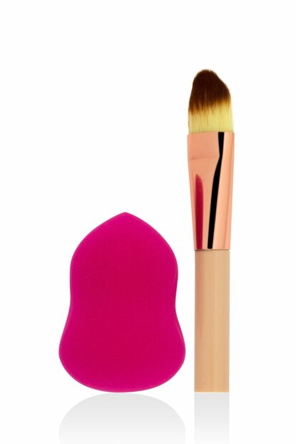 Makeup Sponge & Mini Brush - Professional Makeup 8680923303208