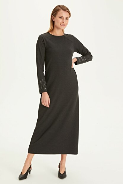 Women's Anthracite Melange Dress 9WL066Z8