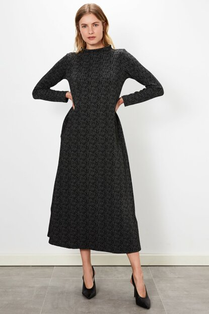 Women's Anthracite Jacquard Dress 9WL058Z8