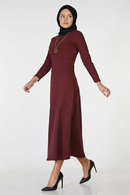 Women Burgundy Dress Nassah-UU-2019