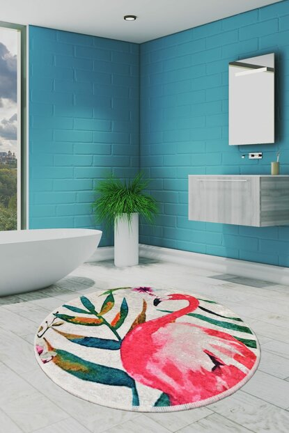 Diameter 140 Flam Digital Bath Mat, Doormat 8682125928975