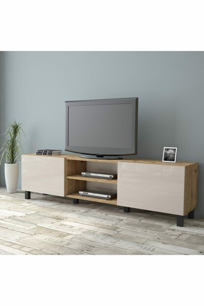 Aqua Tv Unit High Gloss 180cm 2 Cover Cream AU4-A2B-EE 1286350